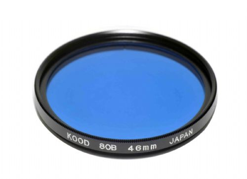 High Quality Optical Glass 80B Filter Made in Japan 46mm Kood